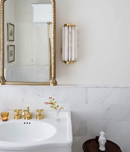 We love ❤️ the vintage vibe of this bath vanity mirror by Anthropology . Shop more below to get your powder room holiday ready.   #LTKfamily #LTKhome #LTKHoliday