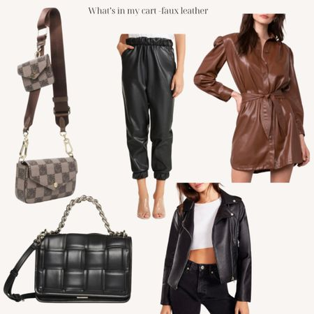 Fall trend - faux leather