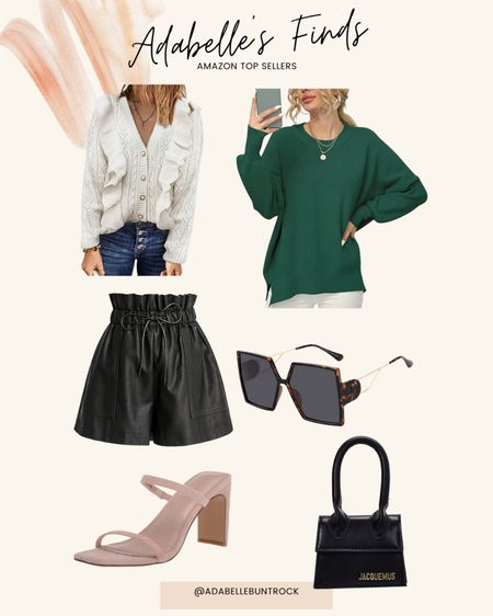 Amazon dupes sunglasses Dior free people sweater cardigan purse block heels   #LTKSeasonal #LTKunder50 #LTKunder100