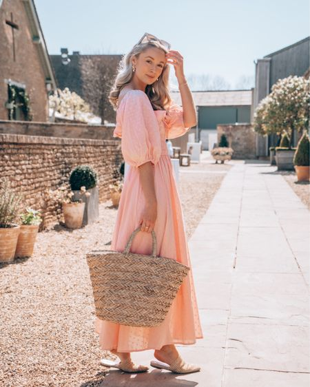 A pink affordable dress and straw accessories for the bank holiday weekend http://liketk.it/3ecHB #liketkit @liketoknow.it #LTKunder100 #LTKunder50