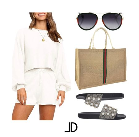 Amazon Outfit Loungewear set only $20 on select color and sizes. Gucci slides, Gucci style tote $25, Gucci sunglasses          _______ Designer bag gucci bag chanel bags louis vuitton purse telfar bag ysl bags celine bag michael kors purse gucci purse louis vuitton neverfull valentino bag louis vuitton backpack jacquemus bag michael kors handbags & purses chanel handbags gucci marmont gucci backpack michael kors handbags chanel purse marc jacobs bag designer handbags kate spade purse gucci handbags & purses louis vuitton handbags & purses gucci handbags Travel Nordstrom Sale Amazon Fashion Shein Fashion Walmart Finds Target Trends H&M Fashion Apparel Wear-to-Work Beach Wear Travel Style   #Leeannbenjamin #stylinbyaylin #cellajaneblog #lornaluxe #lucyswhims #amazonfinds #walmartfinds #interiorsesignerella #lolariostyle    Follow my shop on the @shop.LTK app to shop this post and get my exclusive app-only content!  #liketkit #LTKstyletip #LTKsalealert #LTKunder50 @shop.ltk http://liketk.it/3ku34