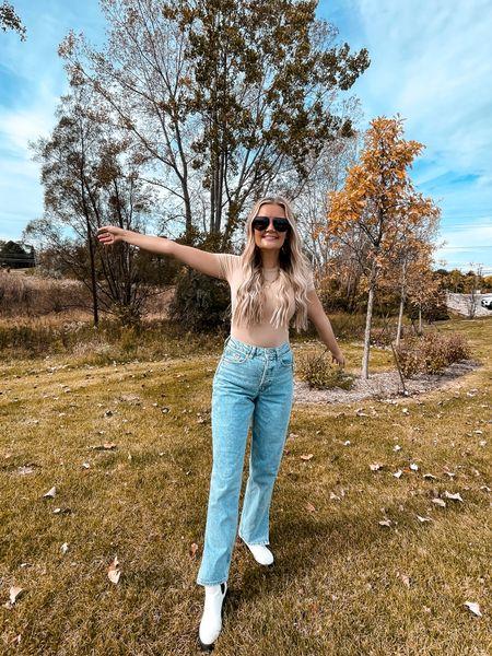 Loving this SKIM dupe bodysuit! And the cutest jeans for fall!   #LTKunder50 #LTKSeasonal #LTKstyletip