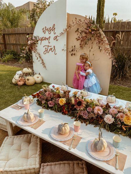 details and links to my girls' joint princess party 🤎  #LTKunder50 #LTKSeasonal #LTKkids