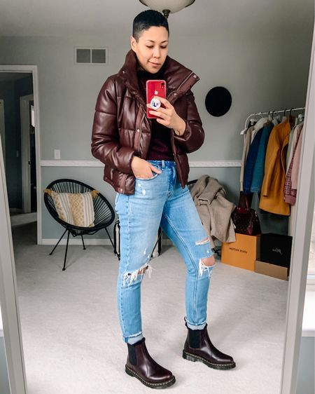 Faux fur mini puffer Ripped mom jeans Abercrombie Deals Sweater weather  http://liketk.it/33rQX #liketkit @liketoknow.it