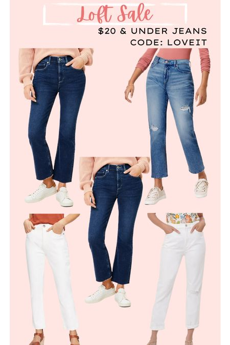 Jeans // white jeans // cropped jeans // loft jeans // loft sale // denim sale   #LTKsalealert #LTKunder50