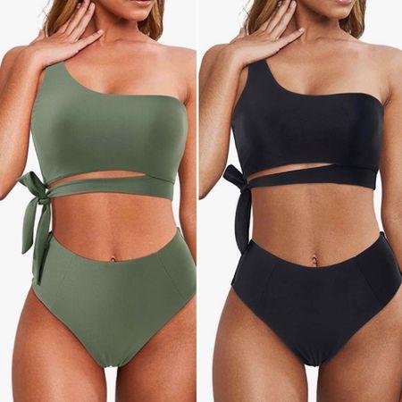 One arm swimwear from @amazon   You can instantly shop all of my looks by following me on the LIKEtoKNOW.it shopping app http://liketk.it/3hSlN   #liketkit @liketoknow.it #ltksummer #swim #bikini #onearmbikini #poolstyle #summer #summer2021 #amazonbikini #beachvacation #classicswim