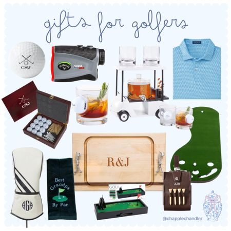 Gifts for Golfers 🏌🏽♂️ 🏌🏼♀️⛳️ Golf gifts Christmas gift guide Amazon Walmart Peter millar Etsy finds personalized mark and graham home golf cart party set entertaining gifts cutting board golf shirt personalized custom golf balls tees gear game   #LTKGiftGuide #LTKmens #LTKunder50