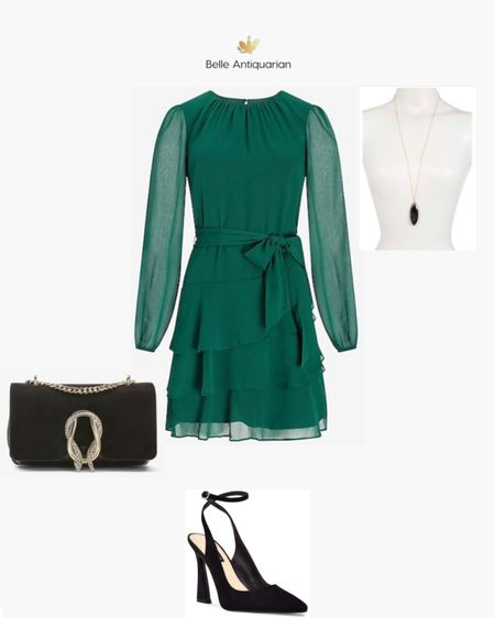 The perfect dress to carry you through fall and the holiday season!  Pair it with these classic pumps and memorable accessories for a pulled together look.  #LTKwedding #LTKunder100 #LTKworkwear