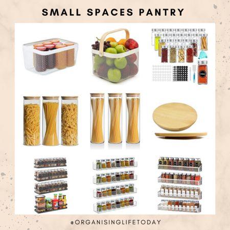 Pantry organization. Amazon home. Organizers. Small spaces.   #LTKunder50 #LTKeurope #LTKhome