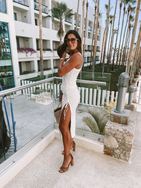 White dress for beach vacation or would be so cute for a bridal shower! (Medium)   #LTKswim #LTKwedding #LTKtravel