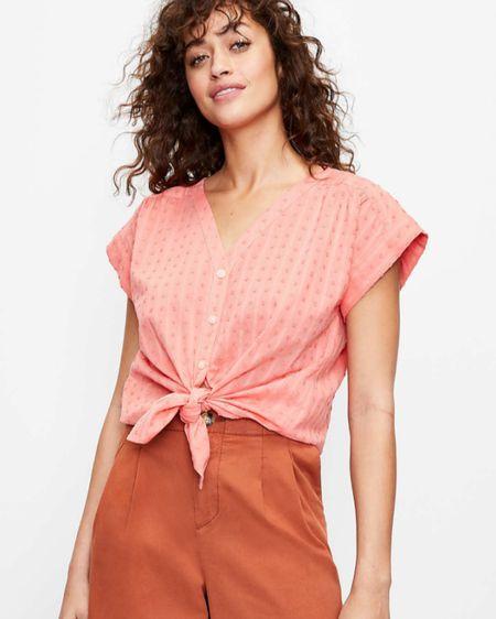 Loft sale. $30 tops. Under 30. Button up blouse. http://liketk.it/3fHt4 #liketkit @liketoknow.it #LTKworkwear #LTKunder50 #LTKstyletip