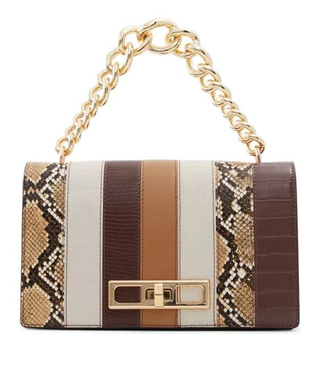 Love this fall purse as a gift for her! Under $100 and such a cute pattern and chain detail.   #LTKunder100 #LTKGiftGuide #LTKitbag