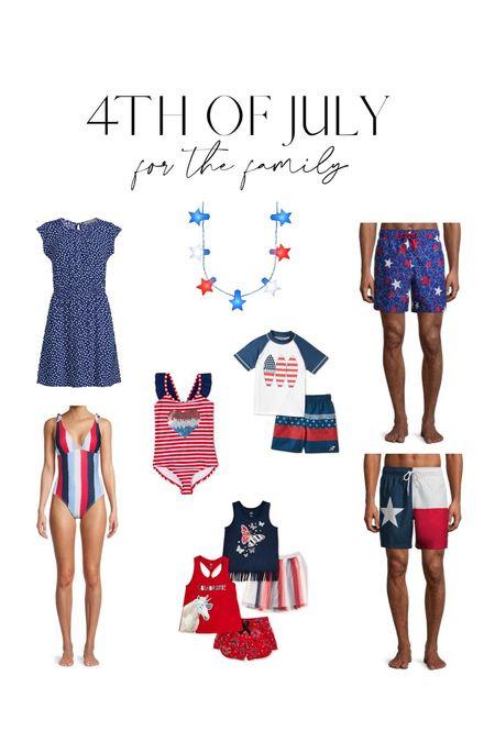 4th of July family outfits ❤️  #LTKfamily #LTKkids #LTKswim