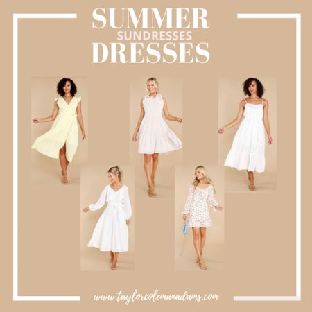 Summer and Spring Dresses http://liketk.it/3ei4g #liketkit @liketoknow.it #sundresses #dress #sundresses #mididress #shortdress #flowydress #whitedress
