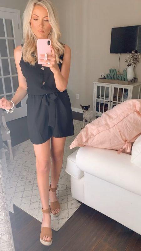 little black romper dressed up  Wearing size small  Shoes-8 @liketoknow.it #liketkit #LTKunder50 #LTKshoecrush #LTKstyletip http://liketk.it/3aoT1 Shop my daily looks by following me on the LIKEtoKNOW.it shopping app