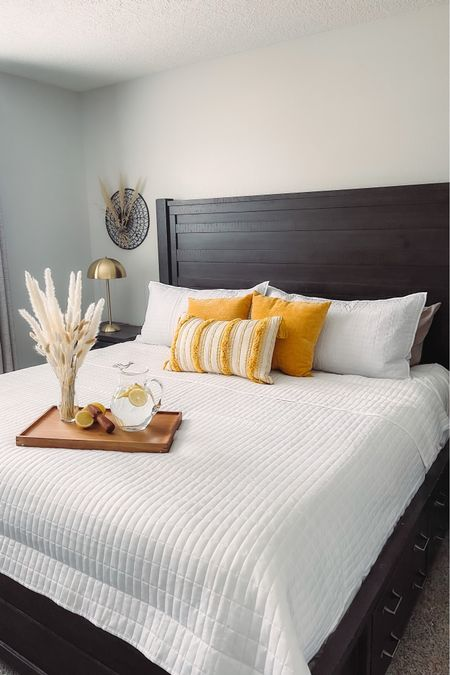 Good morning and happy Tuesday Everyone ❤️❤️❤️ this post is #sponsored by #WalmartHome  I decided to spruce up the bedroom and thanks to Walmart's new citrus summer collection I was able to make it happen!! The quilt, tray, and lamp are Just a few of the many items they have to offer. #CitrusSummer http://liketk.it/3iEkX #liketkit @liketoknow.it #LTKhome #LTKunder100 @liketoknow.it.home   Shop your screenshot of this pic with the LIKEtoKNOW.it shopping app