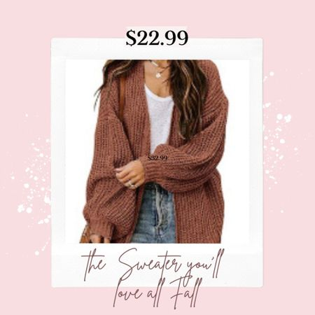$22.99 Sweater cardigan that is perfect for Fall and gift giving season🎁🎄 . Comes in a couple of colors!    #LTKSeasonal #LTKGiftGuide #LTKstyletip