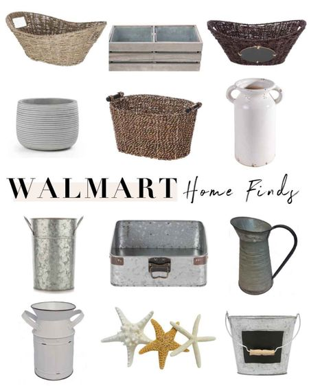 Walmart home decor finds! Love these neutral vases, baskets, trays and more for storage and accent pieces. I have the white jug vase and it's the perfect size, looks amazing with simple dried eucalyptus. Find these in stores near the arts & crafts! http://liketk.it/3kAdl #liketkit @liketoknow.it #LTKunder50 #LTKhome #farmhouse #decor #walmarthome