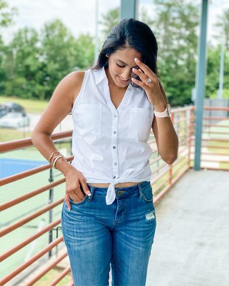 @liketoknow.it #LTKworkwear #LTKstyletip #LTKunder50 Sticking with the classic white and denim this Summer! http://liketk.it/3gRgd #liketkit