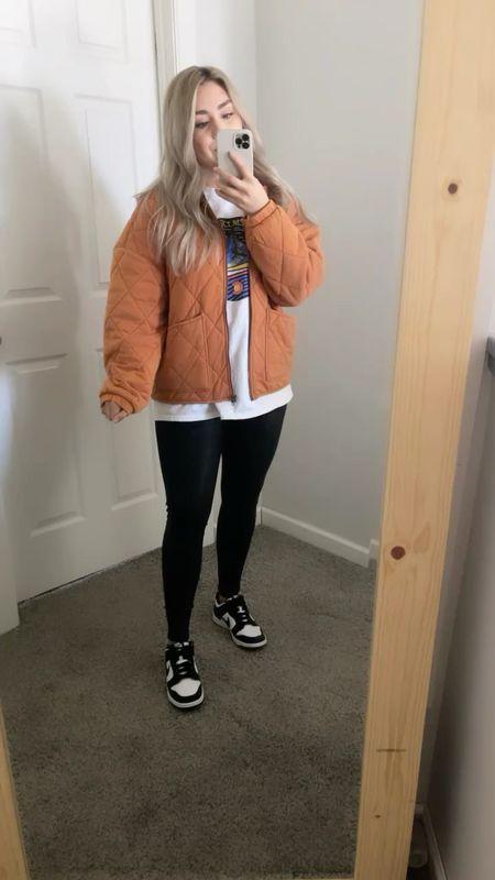 Target quilted jacket size large for looser fit   #LTKSeasonal #LTKunder100 #LTKunder50