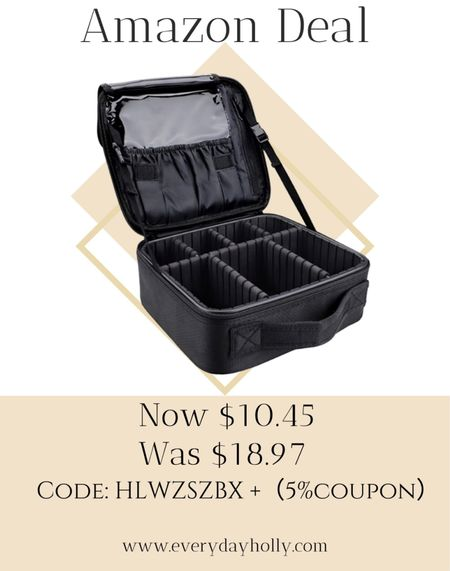 Only $10.45!! Amazing makeup case! 💄  Adjustable Dividers for Cosmetics Makeup Brushes Toiletry Jewelry Digital Accessories Amazing reviews  CODE : HLWZSZBX(5%coupon) https://amzn.to/3iQZPao  #LTKbeauty #LTKsalealert #LTKunder50
