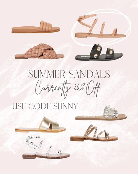 Summer sandals from Steve Madden on sale for 25% off! Flat sandals. Summer shoes.   #LTKsalealert #LTKshoecrush #LTKunder100