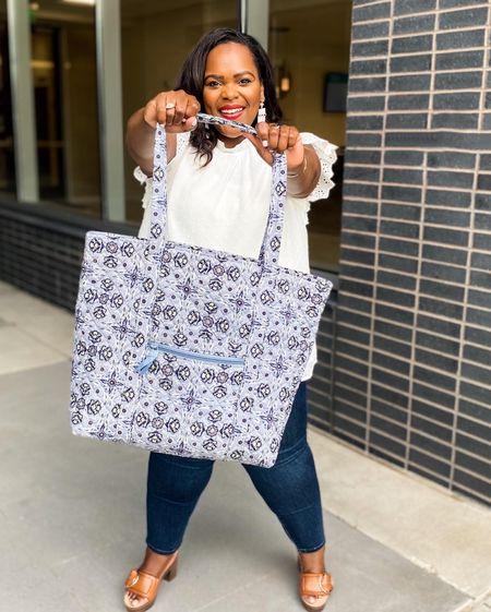 Vera Bradley Tote bag perfect for school or work 🤍   #LTKitbag #LTKkids #LTKunder100