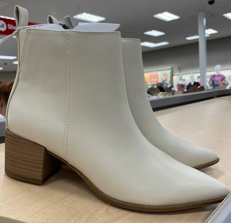 New Target shoes  Fall boots Target boots New arrivals  White booties   #LTKshoecrush #LTKstyletip #LTKunder50
