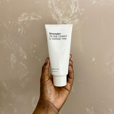 GO BUY THIS NOW! @necessaire's The Body Exfoliator is the best body exfoliater I've ever used.  If you have body acne, KP (strawberry legs) or scars GO BUY THIS NOW! It's a weekly multi-exfoliation treatment for skin health. A gentle AHA/BHA trio of glycolic, lactic, and salicylic acids help to remove dead skin cells and renew skin's appearance, while bamboo charcoal leaves skin feeling soft. Use it 2x a week for 1-2 months and I promise you will see a difference. {CH 👸🏾}   Follow me on the @liketoknow.it  shopping app and get the product details or on our 'Shop Instagram' page in the bio.   Direct Link: http://liketk.it/2T2JX #liketkit
