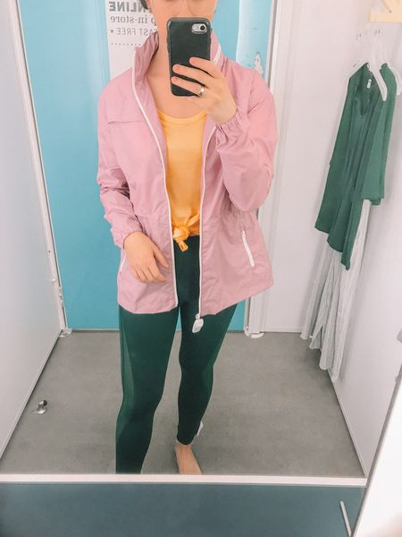 Old Navy Active Wear! Love this water resistance jacket! These leggings and top  fit TTS. I love all of these spring colors together!   http://liketk.it/2AoHX #liketkit @liketoknow.it #LTKunder100 #LTKunder50 #LTKfit #LTKsalealert #LTKstyletip