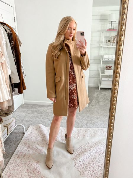 Would you believe this coat is from Walmart! A similar look to the J Crew coat for less. Wearing a small and it's under $50.   #LTKunder50