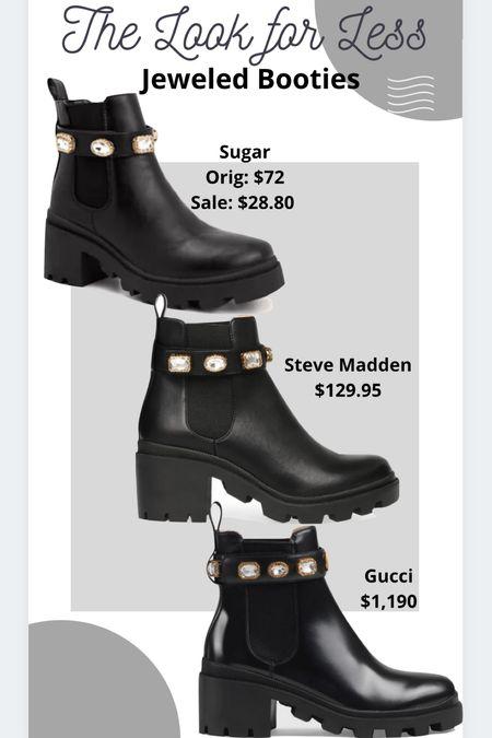 Jeweled booties Combat boots Gucci Steve Madden #ltkfall   #LTKSeasonal #LTKstyletip #LTKshoecrush