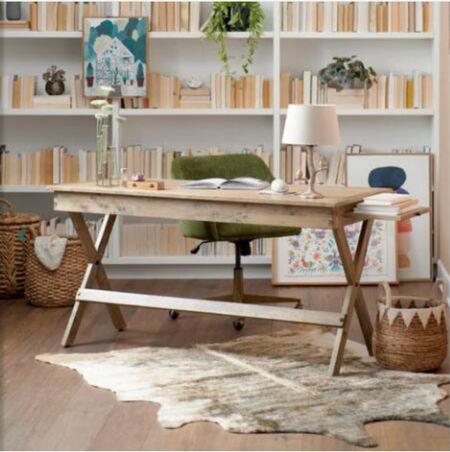 Natural Wood Desk  office desk Home office   #LTKhome