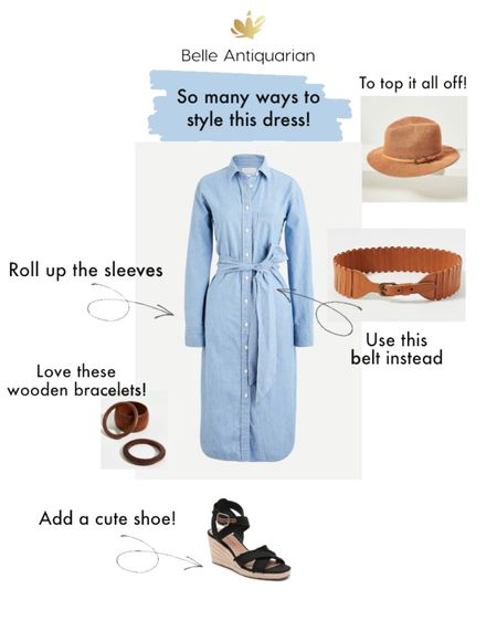 This chambray dress is actually a very classic piece. You can use this as a basic staple, and depending on how you accessorize it, there are endless possibilities! I wear mine all summer by simply cuffing the sleeves to 3/4 length.  http://liketk.it/3bdH8 #liketkit @liketoknow.it   #LTKstyletip #LTKshoecrush #LTKSpringSale Shop my daily looks by following me on the LIKEtoKNOW.it shopping app