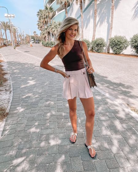Express Shorts & one shoulder top http://liketk.it/3hQCe @liketoknow.it #liketkit