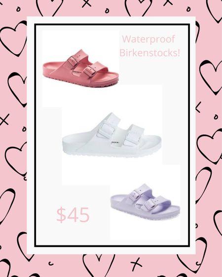 Waterproof Birkenstock's!  Such fun spring and summer colours! http://liketk.it/3cvWM #liketkit @liketoknow.it #sandal #waterproof #spring #summer #colour #birkenstock