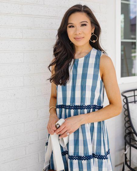 Tiered maxi dress for summer. Love the blue stripes and roomy silhouette. Wearing size XXS.  #LTKstyletip #LTKunder100 #LTKsalealert