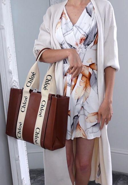 Have you seen my video review of the Chloe woody tote bag yet?! Not LIVE on YouTube. This beautiful tote is perfect for summer & winter in the dark oak coloured leather. #chloebag #chloewoodytotebag #designerbag #designertotebag  #LTKstyletip #LTKSeasonal #LTKworkwear