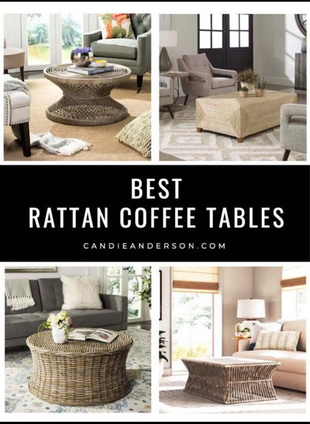 Best rattan coffee tables. Best modern rattan coffee tables. Best modern coastal coffee table. Living room furniture! Decorate your home just in time for the holidays! Wayfair coffee table. ❤️   #LTKhome