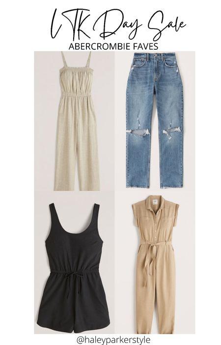 Ltk day sale abercrombie sale Jumpsuit Romper Mom jeans Distressed jeans   #LTKDay #LTKsalealert #LTKunder100