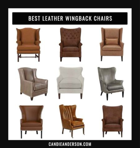 Best leather wingback chairs for living room, bedroom, family room and more. ❤️  #LTKhome #LTKGiftGuide