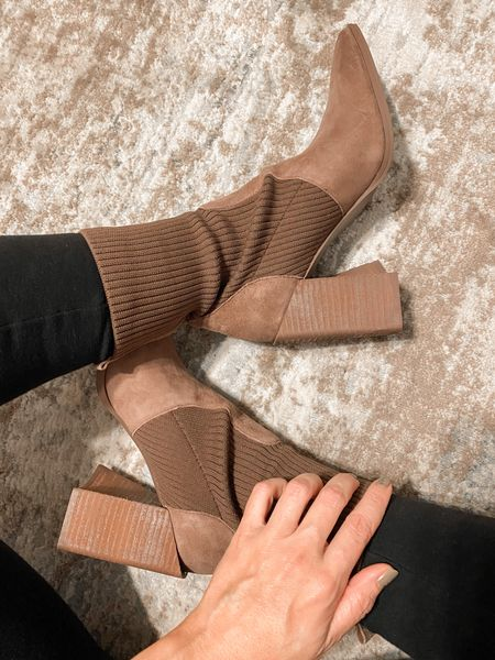 Loving these Tackle Booties from Steve Madden 😍👢  Wearing color Taupe Suede 🤎  They do RUN SMALL! ⬆️ Size up 1/2 size!  #LTKshoecrush #LTKSeasonal #LTKunder100