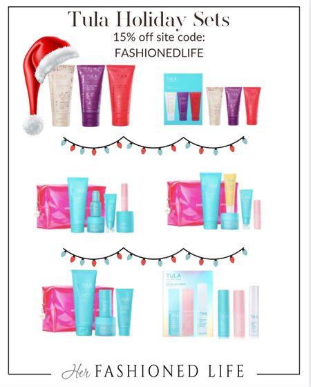 Tula holiday sets, skincare, gifts under $100  #LTKunder100 #LTKHoliday #LTKGiftGuide