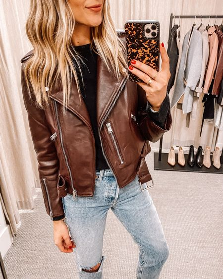 This burgundy leather jacket from the #NSALE last year is back in stock in an updated style! I wore it so much during the fall, such a great staple! Fits TTS (wearing a IS 6) #nordstromanniversarysale #nordstromsale #nordstrom #leatherjacket #liketkit  #LTKsalealert #LTKunder50 #LTKunder100