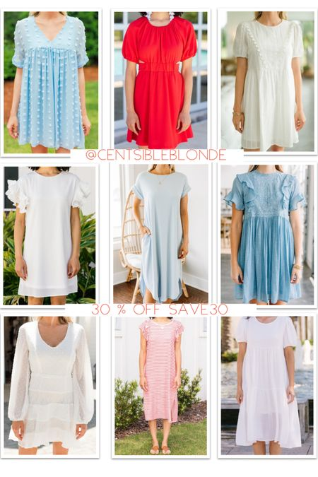 Red, white, and blue dresses  Patriotic dresses for the Fourth of July and Veteran's Day!   White dresses for brides   http://liketk.it/3gypf #LTKsalealert #LTKstyletip #LTKDay #liketkit @liketoknow.it #competition #ltkseasonal