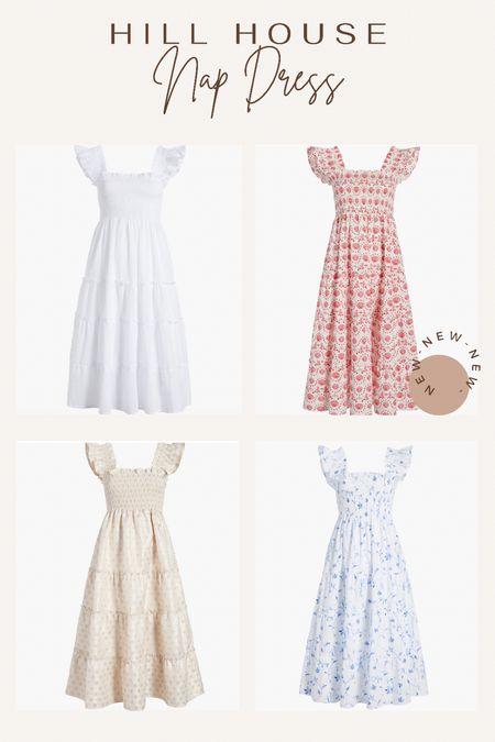 Nap dress. Summer dress. Hill house. Gil house nap dress. Restock alert. Discount code. White dress. Red dress. Gold dress. Blue and white dress.   #LTKSeasonal