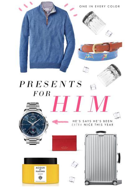 Presents for him at every price point... #giftguide #LTKgiftspo #LTKunder100 #LTKmens http://liketk.it/33OZ0 #liketkit @liketoknow.it