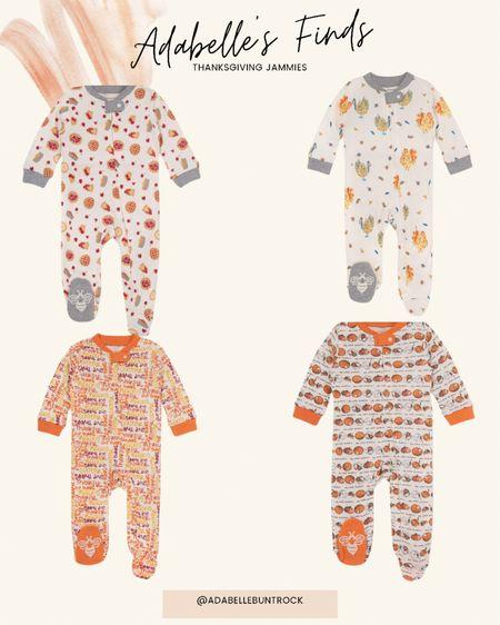 Thanksgiving kids pajamas jammies baby toddler   #LTKSeasonal #LTKbaby #LTKfamily