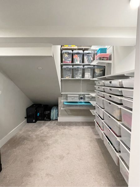 Taking your awkward spaces and making them not so awkward … useful and spaces with purpose! This under stairs closet was so fun to design, install and organize! ||   #LTKhome #LTKbacktoschool #LTKfamily