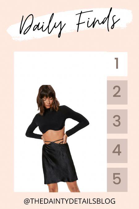 Daily finds: love the strappy waist of this mini skirt!   #LTKsalealert #LTKunder50 #LTKSeasonal